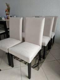 Cadeiras de madeira maciça jogo 6pçs. Top linda linda