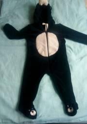 Macacão infantil apeluciado de ursinho