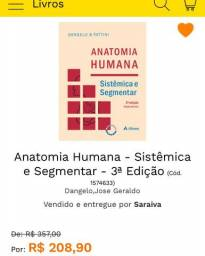 Vendo livro: Anatomia Humana Fattini 3a edição