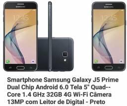 J5 Prime 32GB - Preto - Novo
