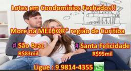 Compre no Lotes no São Braz! #CondominioFechado #MoreBem Ligue : 9 9814-4355 (whats)!