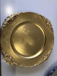 Sousplat Dourado Brasão