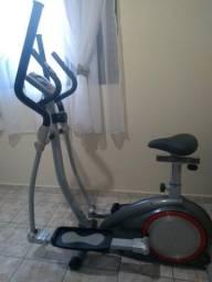 Aparelho simulador de corrida e bicicleta da polishop