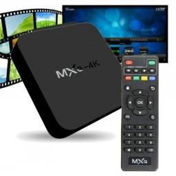 Tv box 4K Android 7.1.2 Configurado Com Lista/Canais