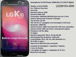 Smartphone LG K10 Power,Tela 5,5,TV Digital,32GB,Super Bateria,Novo,Original,Lacrado
