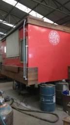Baú para trailer ou food truck de alimentação