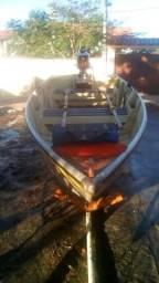 Barco e motor Mercury 5hp - 2015