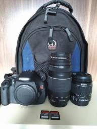 Canon T3i + 18-55mm + 75-300mm