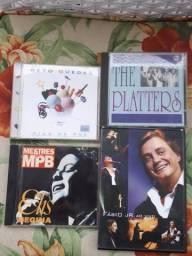 1 DVD Fábio Júnior e 3 CDs. Ellis, Beto Guedes e The Platters