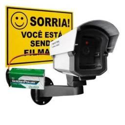 Câmera Falsa C/ Led A Pilha Sem Fio Security Parts