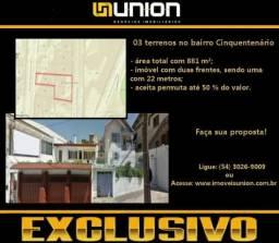 Oferta Exclusiva Imóveis Union! Terreno no Cinquentenário, próximo à AV. Júlio!