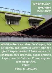 Sobrado na Av. Marechal Campos, Bairro de Lourdes, Vitória. Valor: R$ 1.000.000