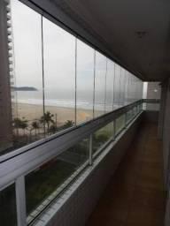 Apartamento com 2 dormitórios para alugar, 102 m² por R$ 2.900,00/mês - Aviação - Praia Gr
