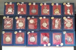 Relíquia coleção relógios de bolso antigos