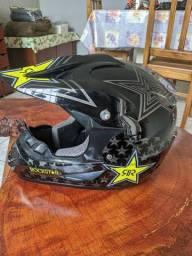 Capacete Rockstar Fox Moto Trilha Motocross