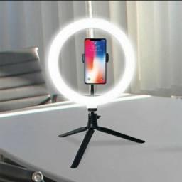 Ring Light de Mesa com Suporte para Smartphone 26cm Topissimo