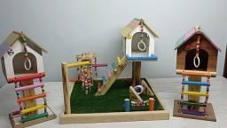 Brinquedos Casa Calopsitas, Periquitos,Agapornis