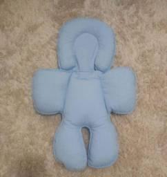 Almofada/Suporte para carrinho e bebê conforto - Azul