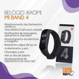 Smartwatch Xiaomi Mi Band 4 Preto Global - Novo Lacrado