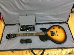 Guitarra Cort Cr50 Les Paul + Cubo + Case de madeira
