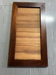Título do anúncio: Moldura madeira imbuia antiga