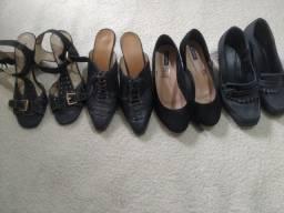 Título do anúncio: Sapatos n37 todos por 50 reais Perfeitos semi novos