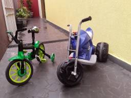 Título do anúncio: (Combo) Moto elétrico infantil 6v com carregador e bicicleta aro 12