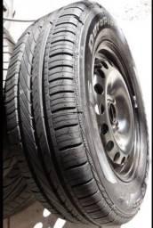 Jogo de rodas de ferro aro 14 com pneus