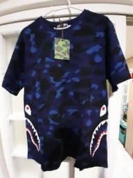 Camiseta Bape tubarão