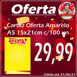 Cartaz oferta A5 15x21cm c/100