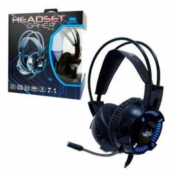 Título do anúncio: Headset Gamer 7.1 Virtual Deep Bass Led Colorido Knup Kp-464