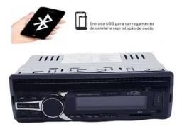Rádio Som Veicular Bluetooth Mp3 Player Usb Fm Sd Aux de Carro
