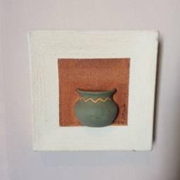 Mini tela com cerâmica