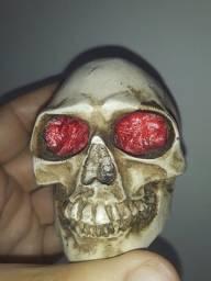 Miniatura de Crânio em Resina semi novo