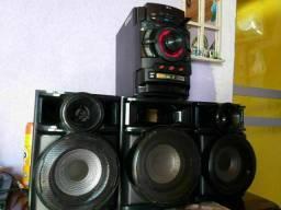 Título do anúncio: Som Mini system TOP! LG 420w rms,2 USB,CD C/Subwoofer,Aceito-Proposta