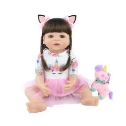 Bebê reborn unicórnio 55cm com entrega grátis*