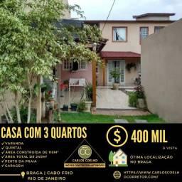 Título do anúncio: Rx  Linda Casa no Braga em Cabo Frio/RJ