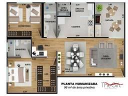 apartamento em araçatuba - cobertura - the gift - 12 andar - sacada livre