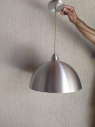 Título do anúncio: Luminária Meia lua em Aço Escovado - Excelente para bares, cafeterias, churrasqueiras
