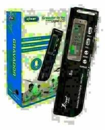 Mini Gravador de Áudio Digital com Tela LCD e Memória 8GB