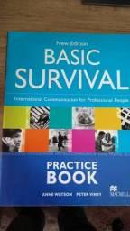 Livro Inglês com workbook Basic Survival
