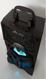 Caixa de Som Potência 10W Rms Rádio Fm Bluetooth compatível com Celular