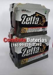 Título do anúncio: Bateria Zetta 60 AH (Nova) Entrega Grátis