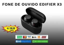 Fone de Ouvido - Edifier TWS X3 - Melhor que AirDots