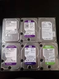 HDs 3TB, 2, 1 e 400Gb