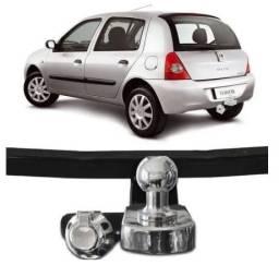Engate Reboque Rabicho Volpato para Renault Clio Hatch em aço reforçado para até 700Kg