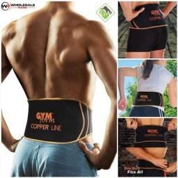 Título do anúncio: Cinta Suporte Lombar Ajustável Protetora Gym Form Copper Line