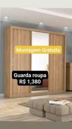 Título do anúncio: guarda roupa 3 portas com espelho novos entrega e montagem gratuita