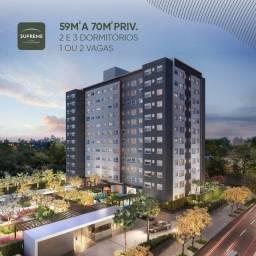 Apartamentos 2 e 3 dorm 59, a 70 m2. infraestrutura completa , Promoção relâmpago.