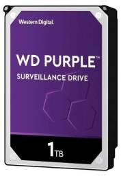 Hd Interno Para Dvr WD Purple 1tb Sata 6gb/s 5400 Rpm - Wd10purz Novo na Embalagem
